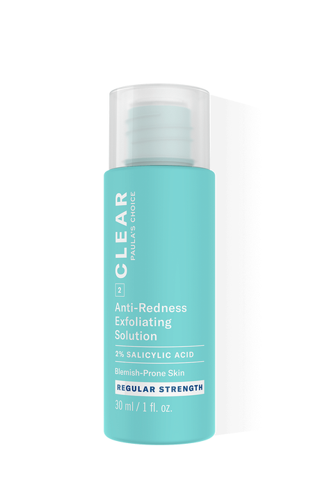 Clear Regular Strength Anti-Redness Exfoliating Solution Salicylic Acid Trial Size